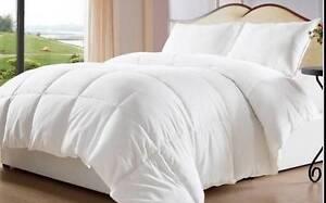 White Goose Down Alternative Comforter Duvet Cover Insert