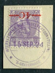 Nederland nvph 106 Bontkraag opdruk, BS INTERNATIONALE POSTZEGELTENTOONSTELLING