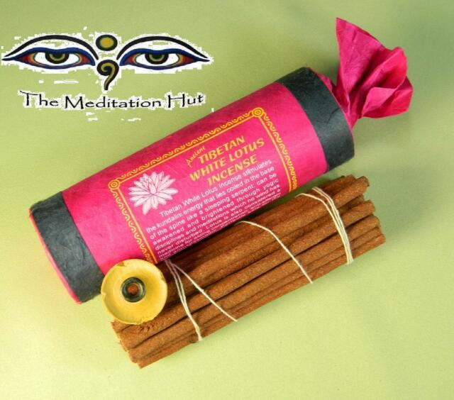 Ancient Tibetan White Lotus Incense w/ Lotka Paper Handmade in Nepal