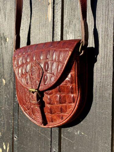 Mulberry Brown Crocodile Leather Mini Shoulder Bag