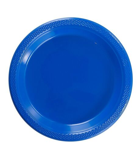 """Dark Blue Plastic Disposable Plates Luncheon Dinner Party Plate 7/"""" 9/"""" 10/"""""""