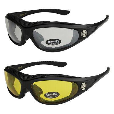 2er Pack Choppers 911 Locs Motorradbrille Schutzbrille Herren Damen schwarz grau