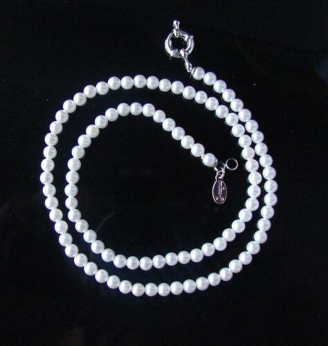 Collana girocollo in perle Naturale colore bianco,4-5 mm,da donna