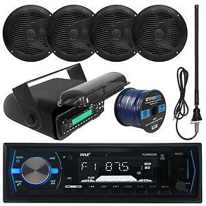 pyle bluetooth usb marine radio 6 5 speakers and wiring. Black Bedroom Furniture Sets. Home Design Ideas