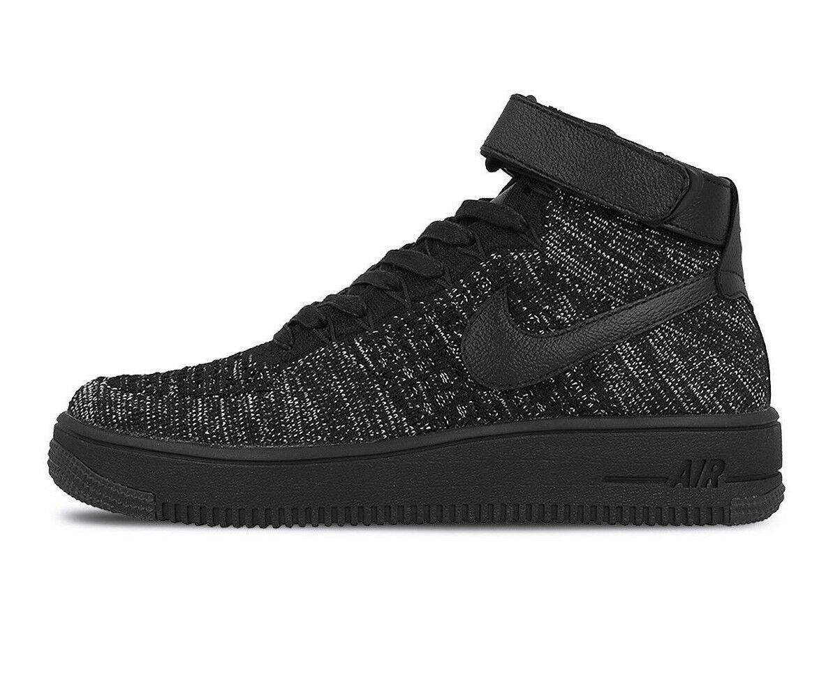 Femme NIKE AF1 FLYKNIT Chaussures Taille 11  noir noir noir   Blanc  818018 002 01bf0d