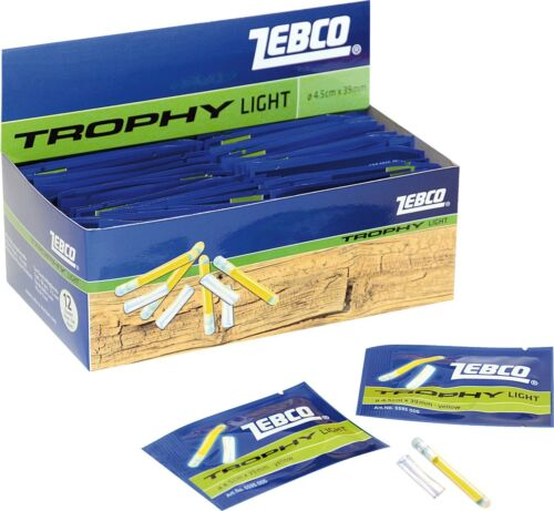 Zebco Knicklichter 4,5mm x 39mm gelb 50 Stück Bißanzeiger Knicklicht
