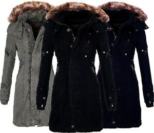43d6bf1682f1 Jet Lag Damen Winter jacke Mantel Parka SW61 Winter mantel Lange ...