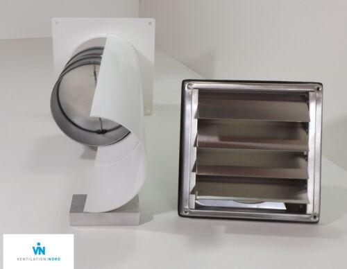 Mauerkasten Dunstabzug Edelstahl 150mm Blower Door Test Zertifikat