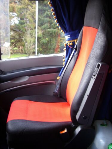 2x LKW Sitzbezüge ROT für DAF XF105 XF 105 CF 95XF  Schonbezüge Sitzschoner