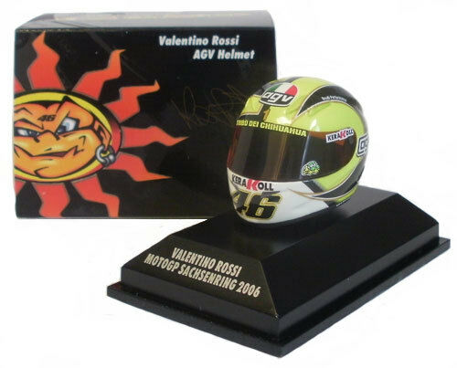 Minichamps Valentino Rossi Casco MotoGP Sachsenring 2018 18 Escala