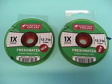 2 Scientific Anglers Tippet Material Fly Fishing Line 1X / 33 Yds / 12.7 LB Test