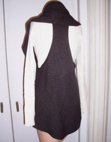 Racerback misto med senza cashmere maniche aperto maglione in B Anthropologie Laurie Grigio 4xCtqfAwfn