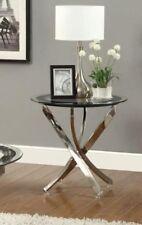 Coaster End Table Chrome- 702587 Table NEW