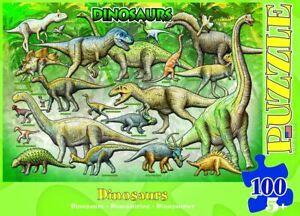 Eurographics-Dinosaures-Puzzle-100-Piece-6-Tout-Neuf