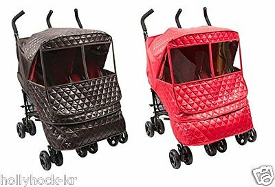 Rain Cover Choco Castle Alpha Twin Cover // Cover for Twin Baby Stroller and Pushchair Manito Eye Protective Wide Windows Wind Weather Shield for outdoor strolling