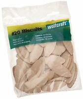 50 Pack Wolfcraft 20 Compressed Wafer Shaped Wood Biscuits Joining Wood Pieces