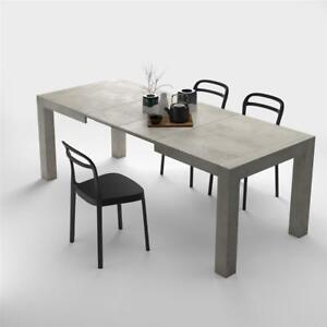 Modern Extendable Dining Table Iacopo Color Concrete - Extendable concrete dining table