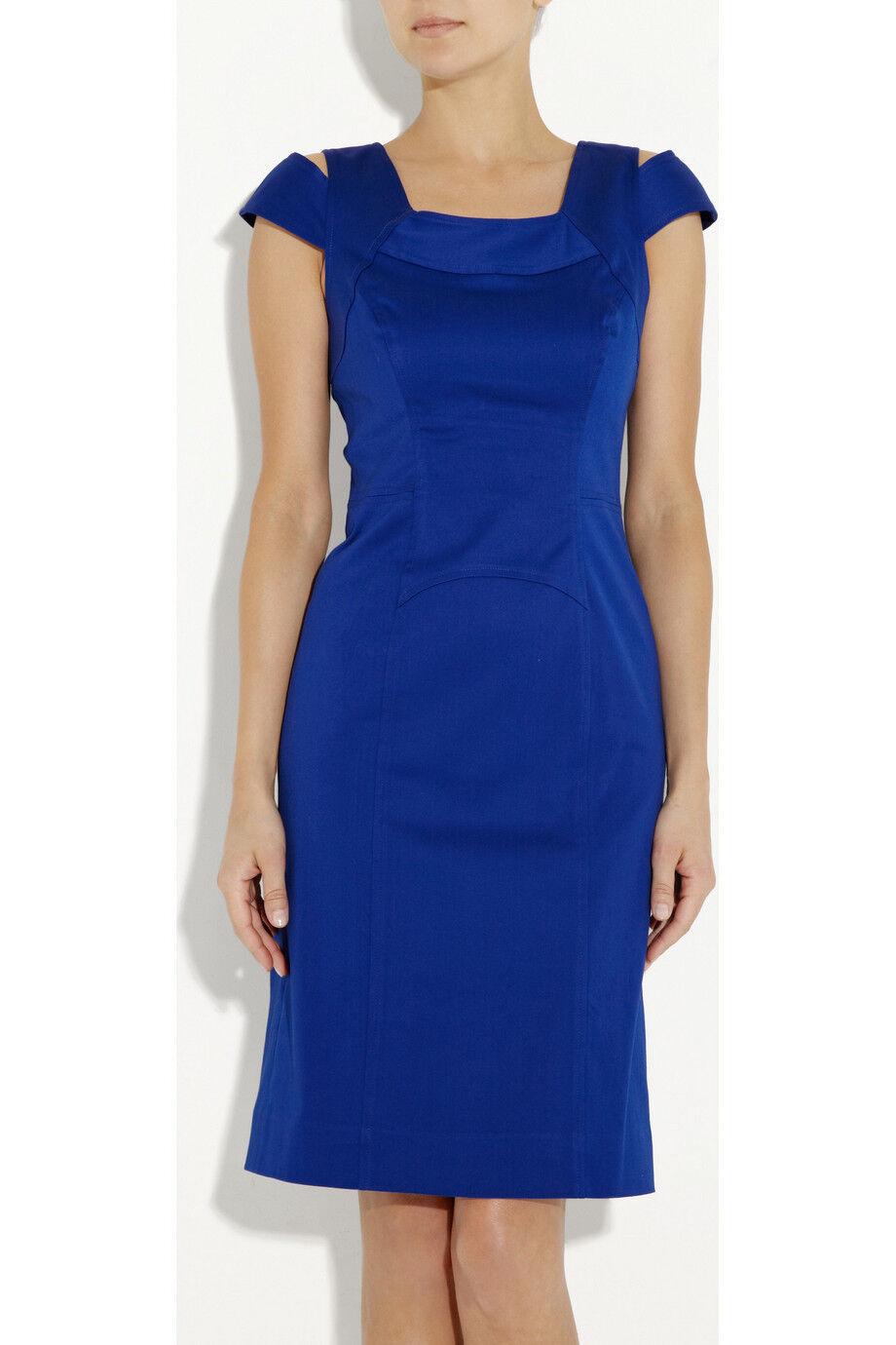 NWT Milly 'Keithly' Cobalt bluee Stretch Cotton Cotton Cotton Dress - US 2, AU 8 e8e7c6