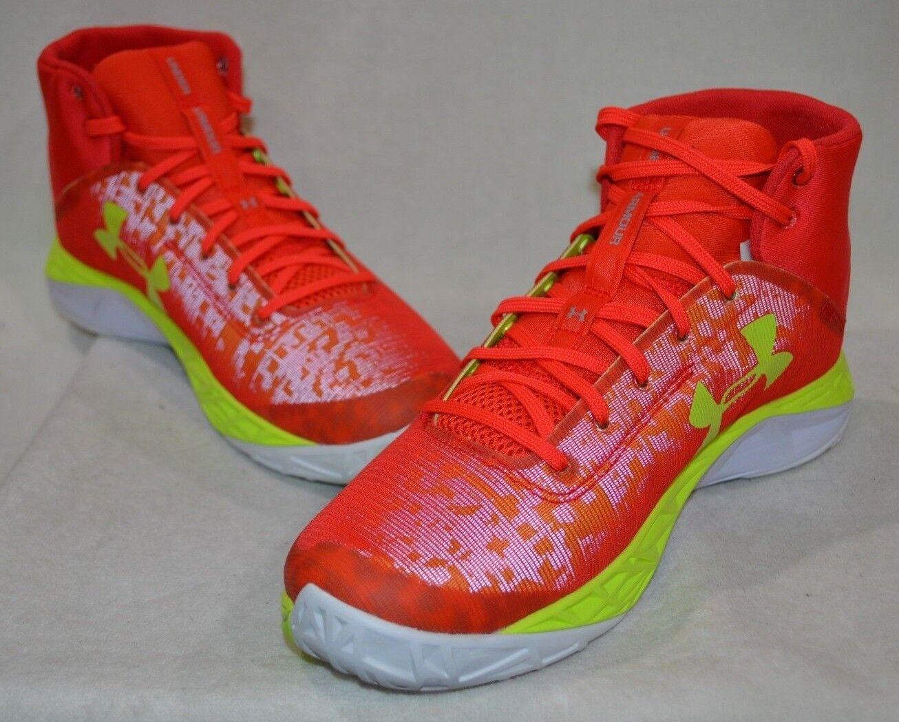 Under Under Under Armour UA Fire Shot rosso Volt bianca Uomo Basketball scarpe-Asst Dimensiones  NWB 6864b0