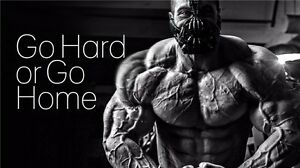 "Man Bodybuilding Motivational Male Fitness Gym Quotes Poster 24""x13"" 008"