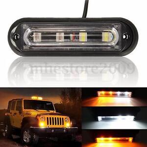 white car truck emergency strobe warning flashing drl light bar ebay. Black Bedroom Furniture Sets. Home Design Ideas