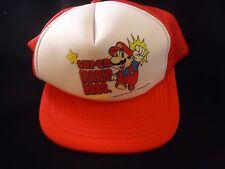 Super Mario Bros. Nintendo NES 1988 Trucker's Hat Mesh Cap Mario Brothers