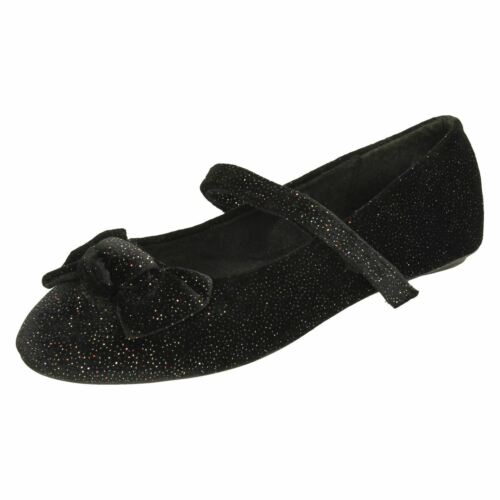 Girls Spot On Shoes With Bow Detail