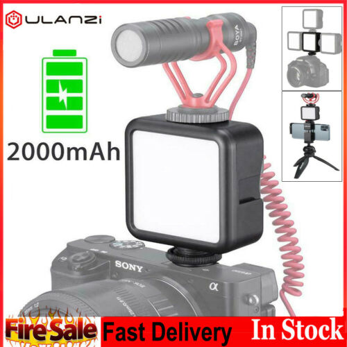 Cámara SLR Mini LED luz de relleno Ulanzi VL49 Fr teléfono Fotografía incorporado en la batería
