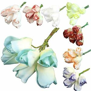 6x bunches of 6 foam tulips wholesale artificial flowers fake image is loading 6x bunches of 6 foam tulips wholesale artificial mightylinksfo