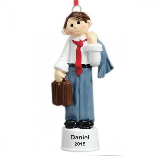Business Man Personalized Christmas Tree Ornament