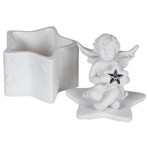 Petite boite à dents de lait blanche Ange modèle 1