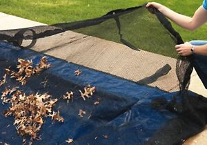 Details about Rectangle Above or In-Ground Swimming Pool Winter Leaf Net  Covers ~Various Sizes