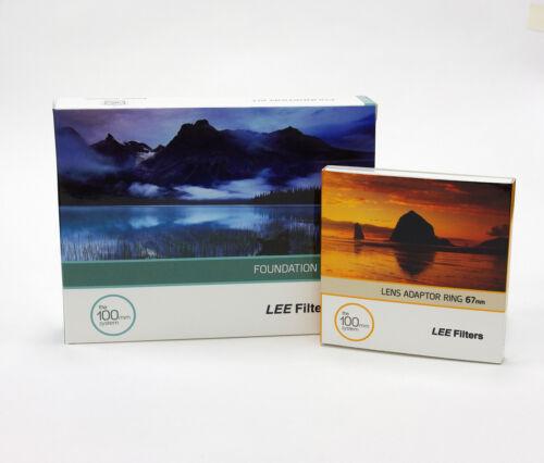 Kit Soporte Lee Filtros Foundation + 67 mm estándar Anillo Adaptador. nuevo