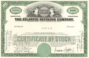 Atlantic-Refining-Company-gt-1960s-Pennsylvania-stock-certificate-100-shares