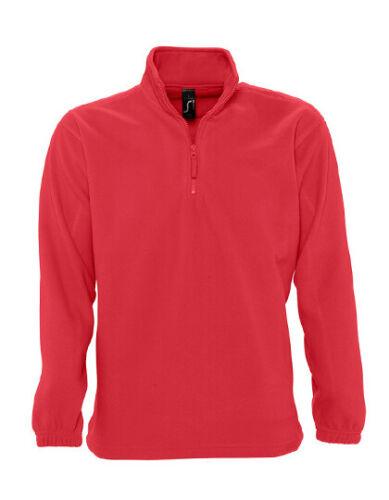 Herren Fleece Pullover mit 1//4 Reißverschluss Stehkragen Sweatshirt