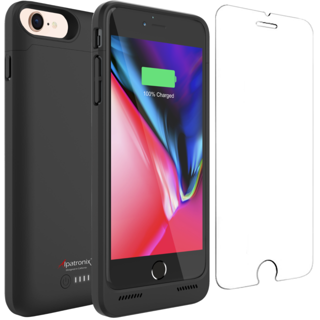 super popular 59f88 ae14e iPhone 8/7 Battery Case Qi Wireless Charging Compatible Alpatronix Bx190  Slim 8
