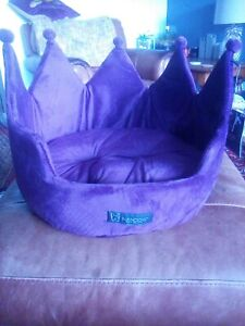 Super Details About Plush Royal Purple Velvet Crown Dog Bed Small Bnwt Theyellowbook Wood Chair Design Ideas Theyellowbookinfo