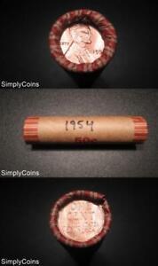 50 1951-D Lincoln Wheat Penny Shotgun Roll ~ BU Uncirculated RED ~ US Coins MQ