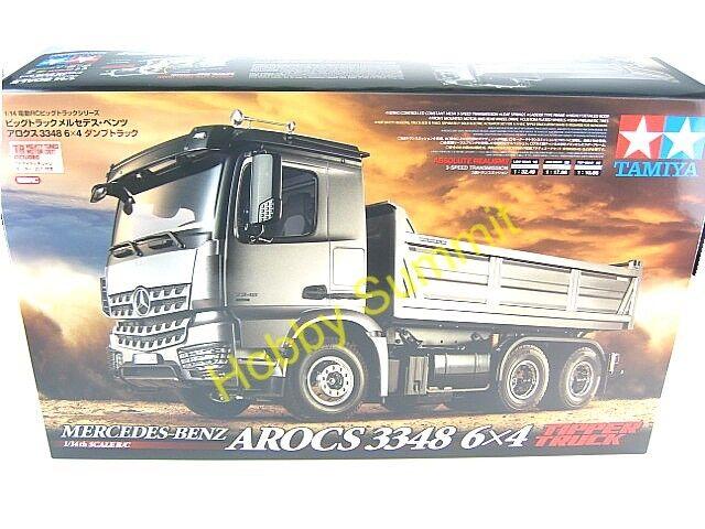 nuevo  RC Volquete Camión Mercedes Benz Arocs 3348 6X4 Tractor Tamiya 56357
