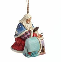 Heartwood Creek Santa with Baby Jesus Hanging Ornament in Gift Box NEW 23280