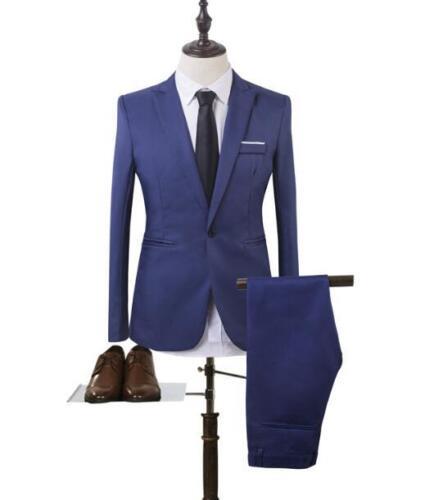 Deux pièces Hommes Business Costume Formel Robe De Mariage Veste et Pantalon Coupe Slim