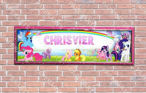 Personalized Customized My Little Pony Name Banner Wall Decor Poster with Frame