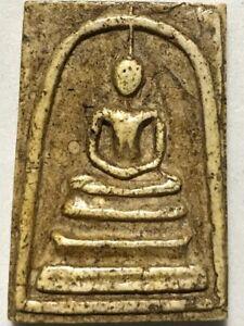 PHRA SOMDEJ LP RARE OLD THAI BUDDHA AMULET PENDANT MAGIC ANCIENT IDOL#299