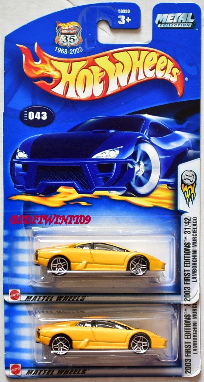 Hot Hot Hot Wheels 2003 Premier Éditions Lamborghini Murcielago Couleur Variation W 4e21a6