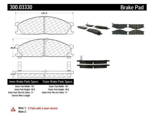 Disc Brake Pad Set-4WD Front Centric 300.03330