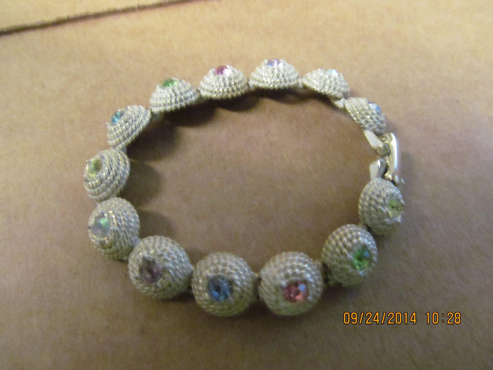 Beautiful Unusual Multi-colord Stone 6 3 4  Bracelet  L@@K  Great Piece