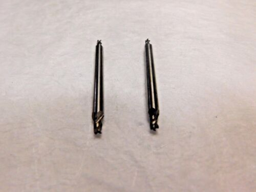 "Precision Carbide Double End Mill 1//8/"" Shank Dia x 3//16/"" LOC 4FL Lot of 2 4170"