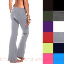 e34e9a21a643f item 2 Slim Rolldown Yoga Pants Flare Boot Leg Cut Foldover Stretch Bottom  Lounge 112 -Slim Rolldown Yoga Pants Flare Boot Leg Cut Foldover Stretch  Bottom ...