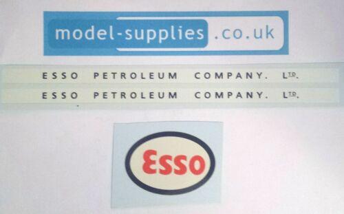 Dinky 943 Leyland Tanker Esso Reproduction Waterslide Transfers Set