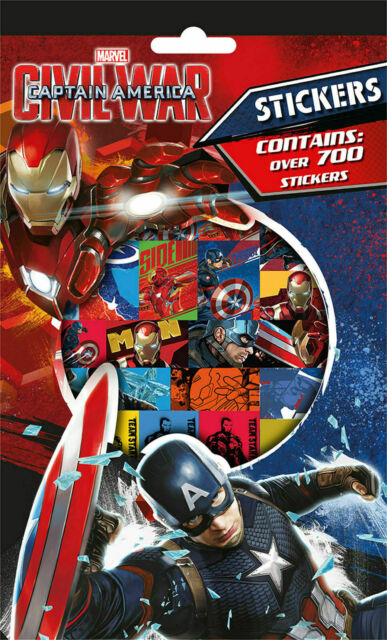 NEW CAPTAIN AMERICA WH3 Over 700 Stickers MARVEL